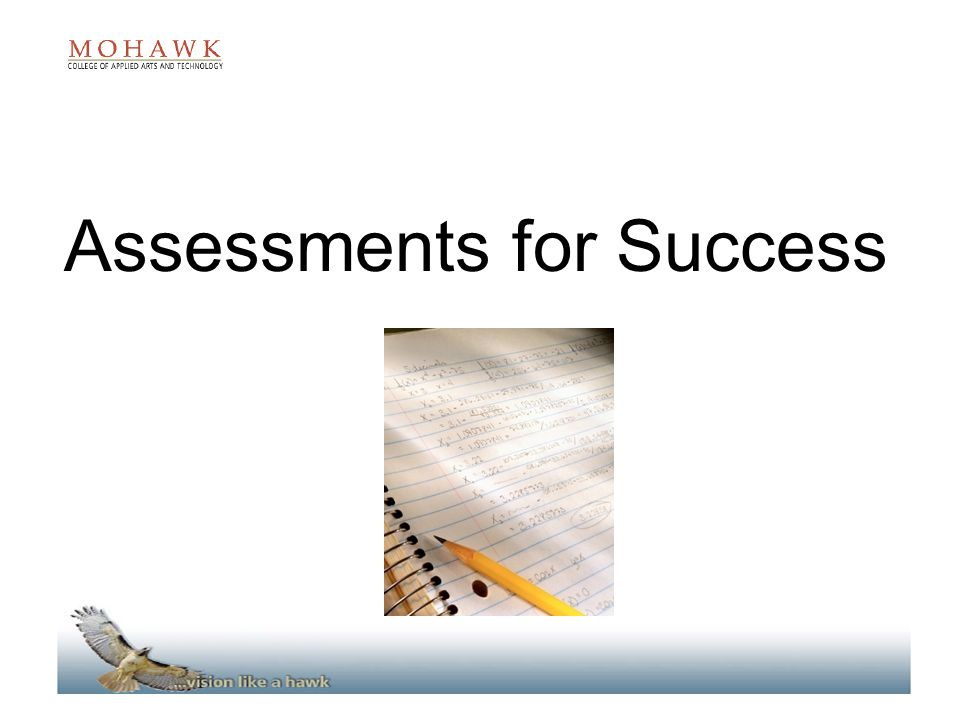 Assessments for Success