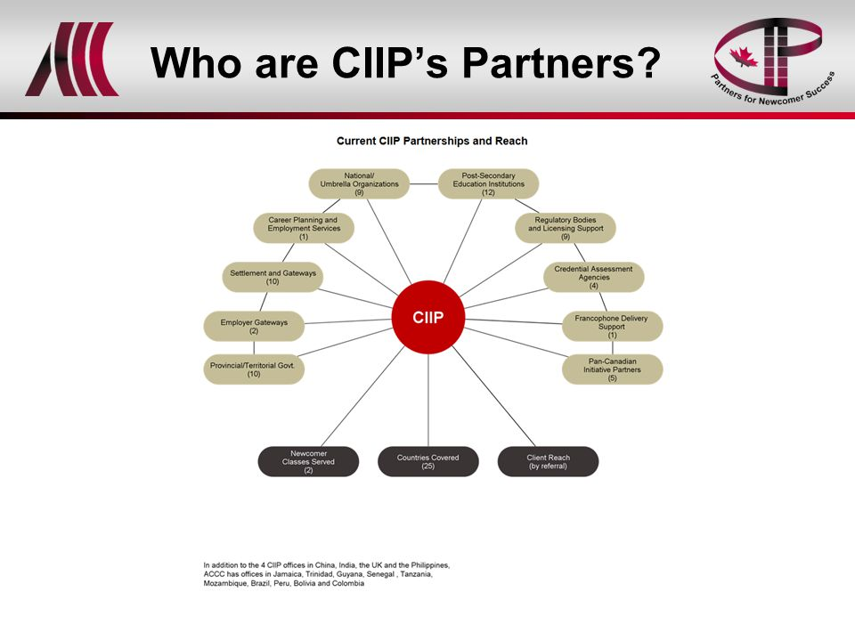 Who are CIIP's Partners