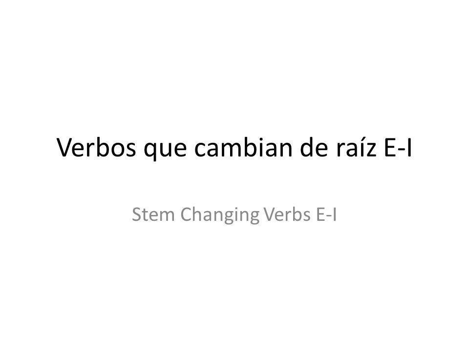 Hasta Ahora… Some verbs in Spanish undergo a Stem Change in the present tense.