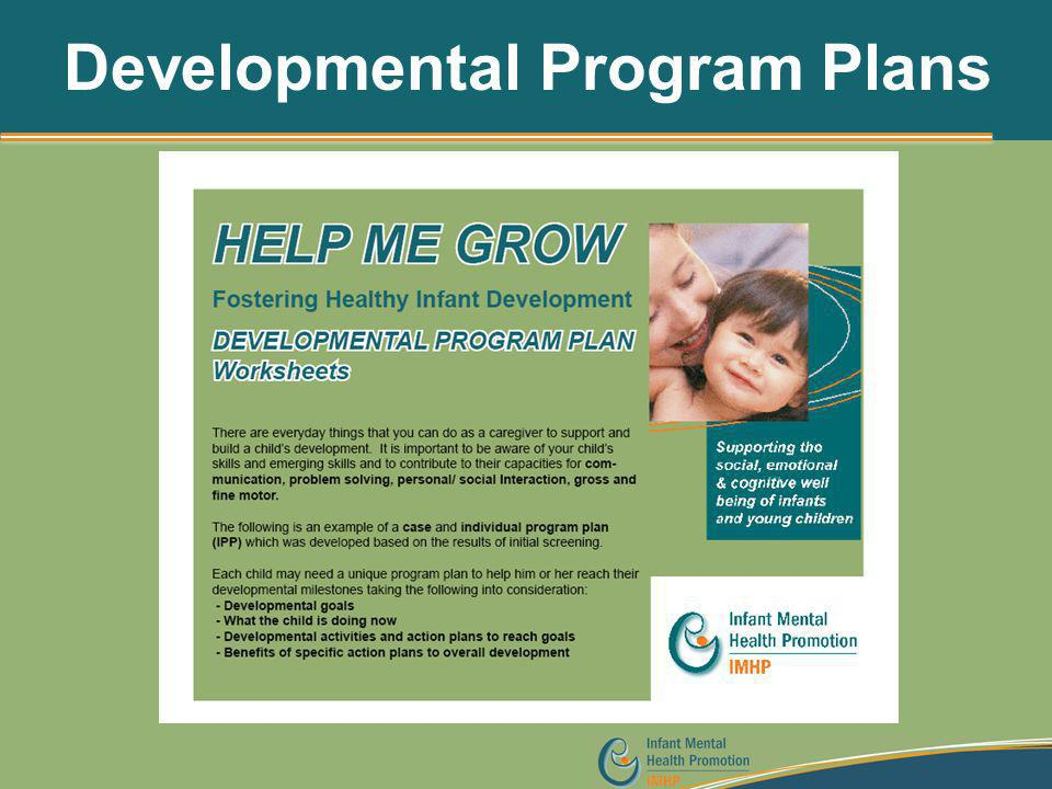 Developmental Program Plans
