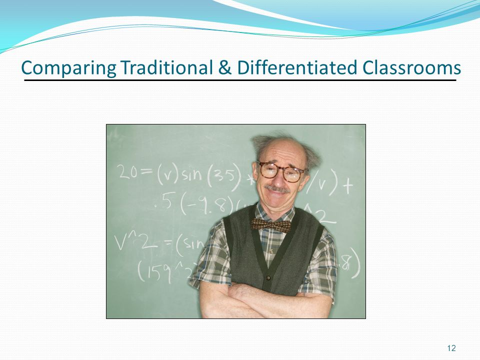 Comparing Traditional & Differentiated Classrooms 12