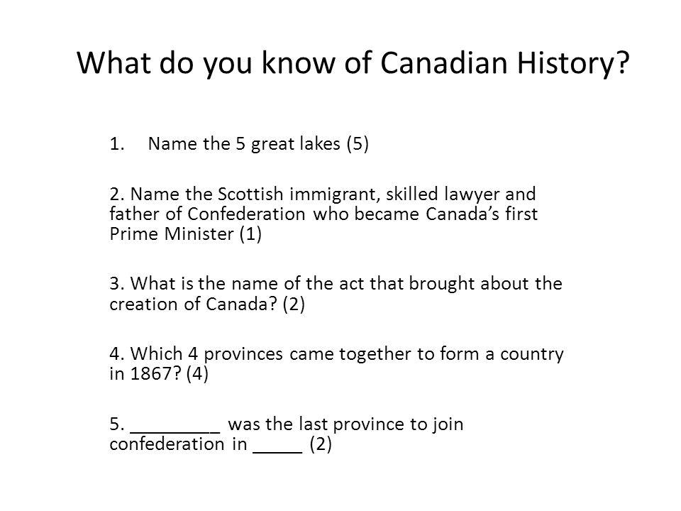 6.Nunavut became a territory of Canada in _______ (1) 7.