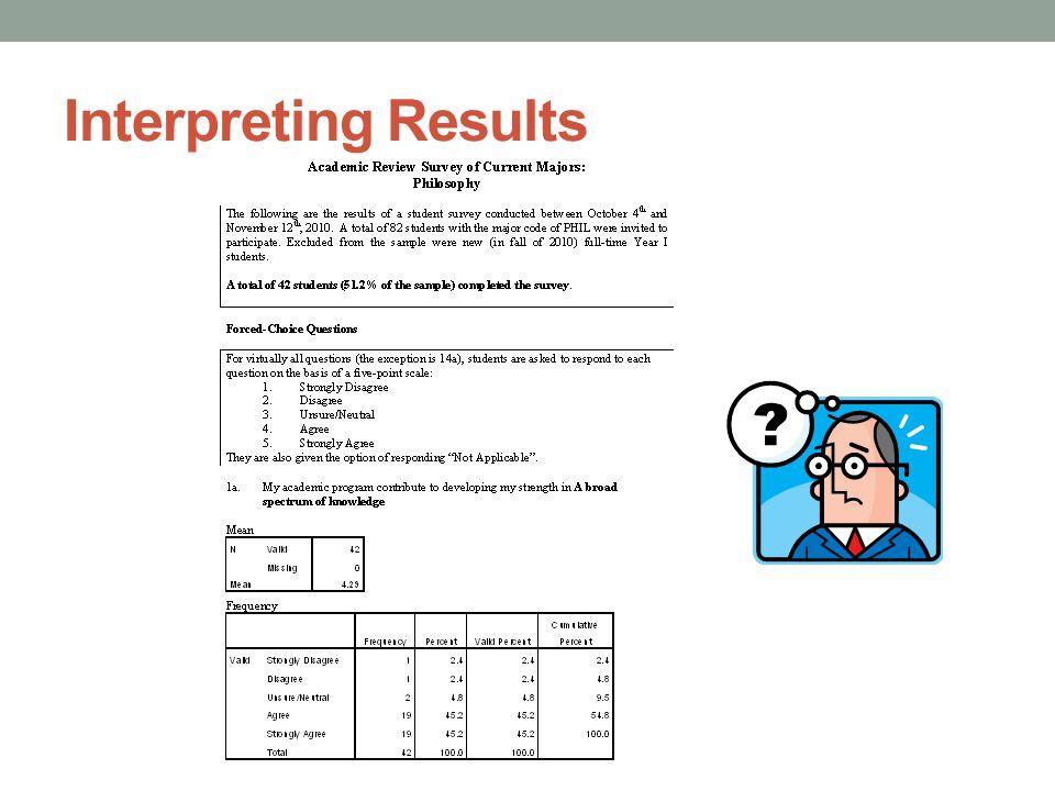 Interpreting Results