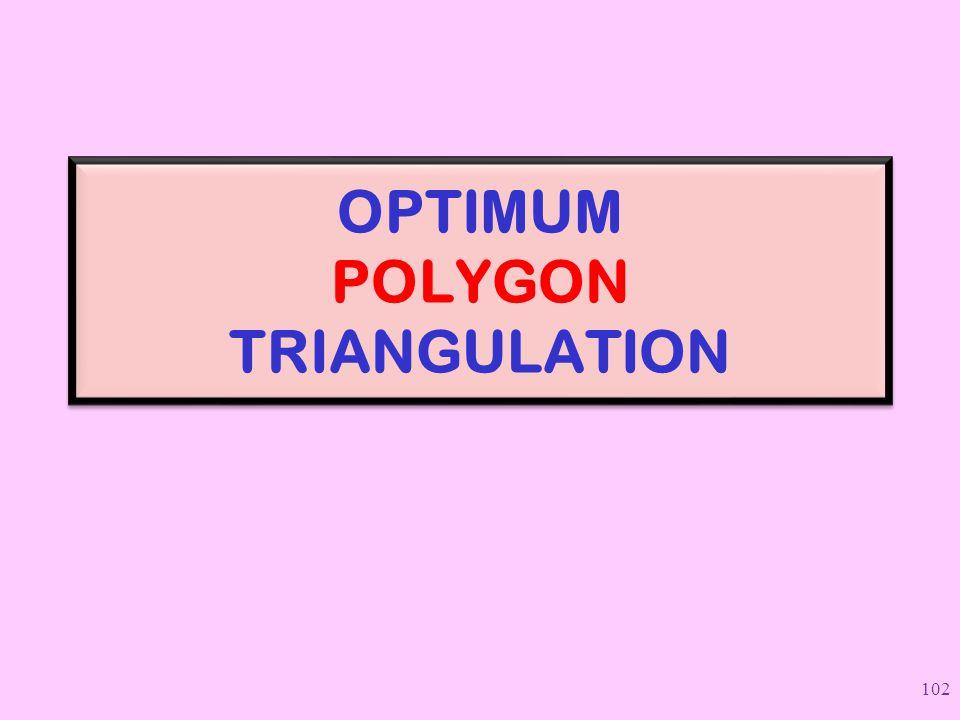 OPTIMUM POLYGON TRIANGULATION 102
