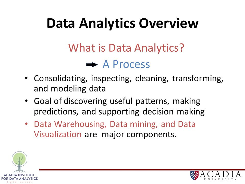 Data Analytics Overview What is Data Analytics.
