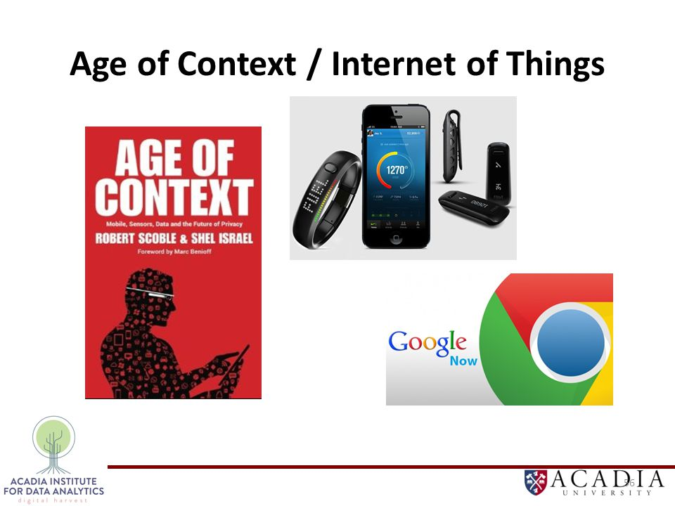 Age of Context / Internet of Things 56