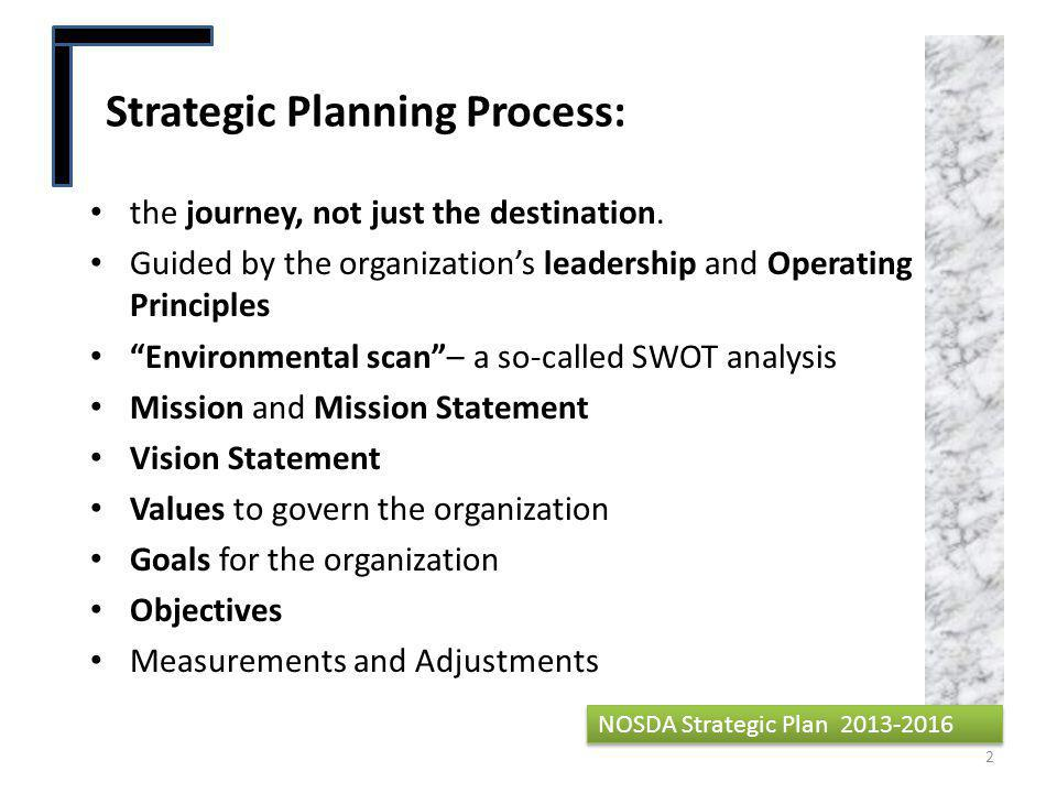 Four Strategic Goals NOSDA Strategic Plan 2013-2016 13 1.