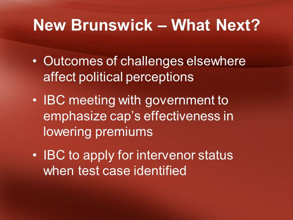 New Brunswick – What Next.