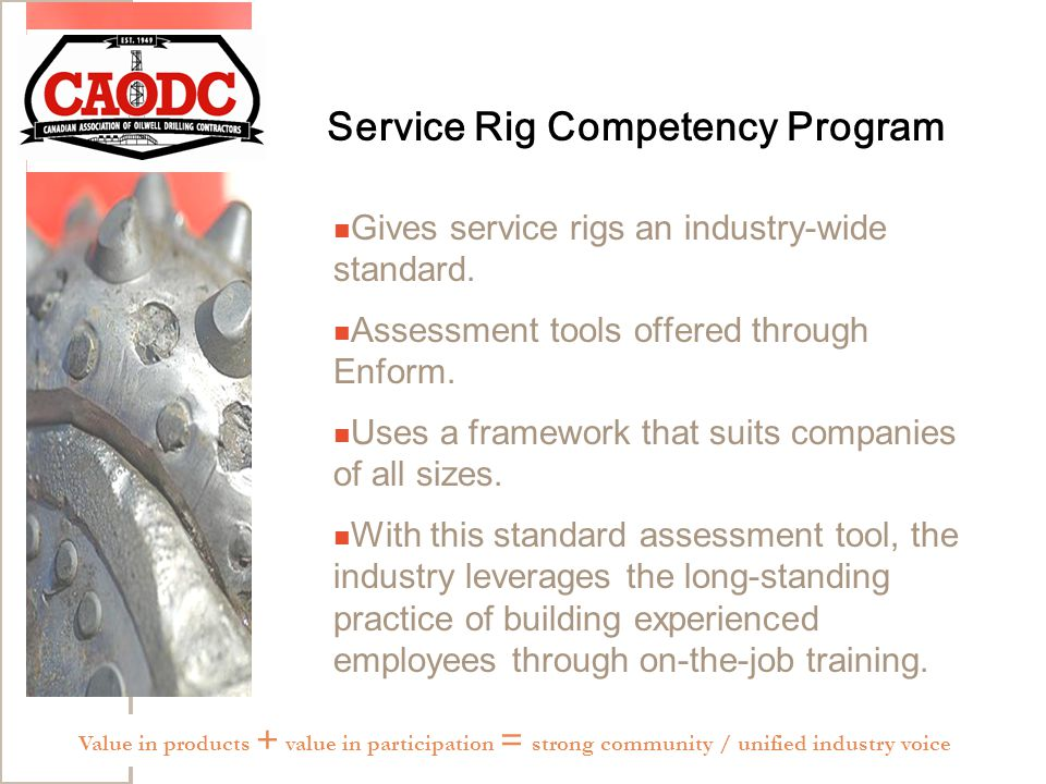 Service Rig Competency Program Gives service rigs an industry-wide standard.