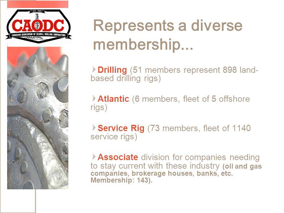 Represents a diverse membership...