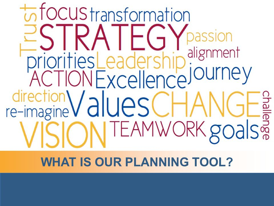 WHAT IS OUR PLANNING TOOL