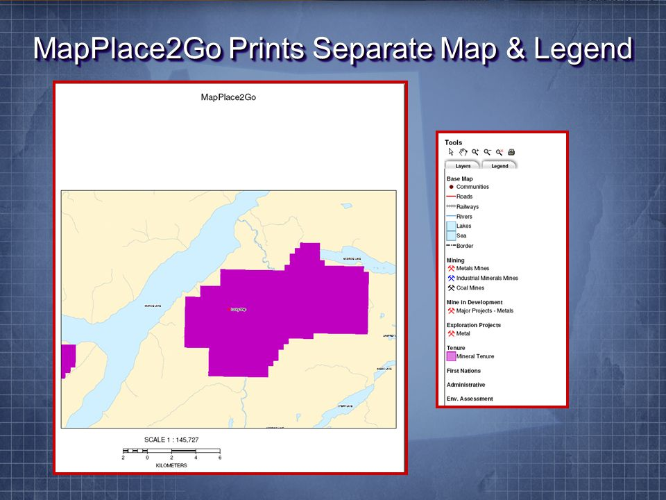 MapPlace2Go Prints Separate Map & Legend
