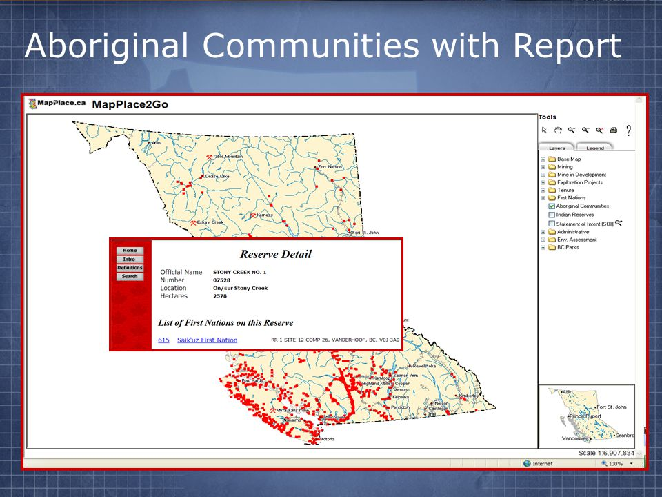 Aboriginal Communities with Report