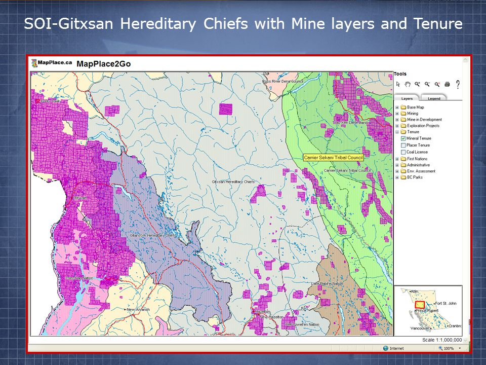 SOI-Gitxsan Hereditary Chiefs with Mine layers and Tenure