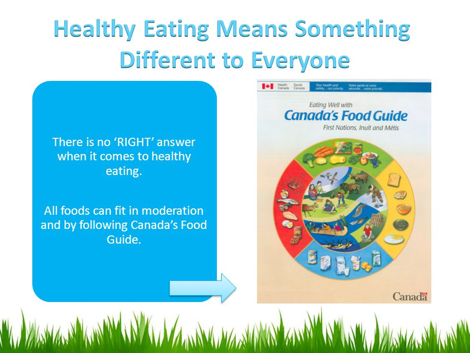 There is no 'RIGHT' answer when it comes to healthy eating. All foods can fit in moderation and by following Canada's Food Guide.
