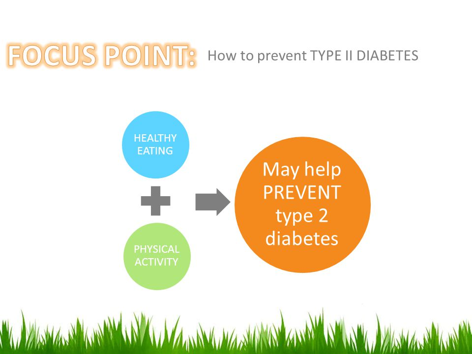 How to prevent TYPE II DIABETES PHYSICAL ACTIVITY HEALTHY EATING May help PREVENT type 2 diabetes