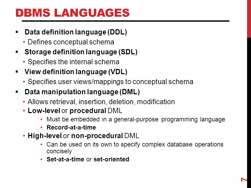 DBMS INTERFACES  Menu-based interfaces for Web clients or browsing  Forms-based interfaces  Graphical user interfaces  Natural language interfaces  Speech input and output  Interfaces for parametric users  Interfaces for the DBA 8