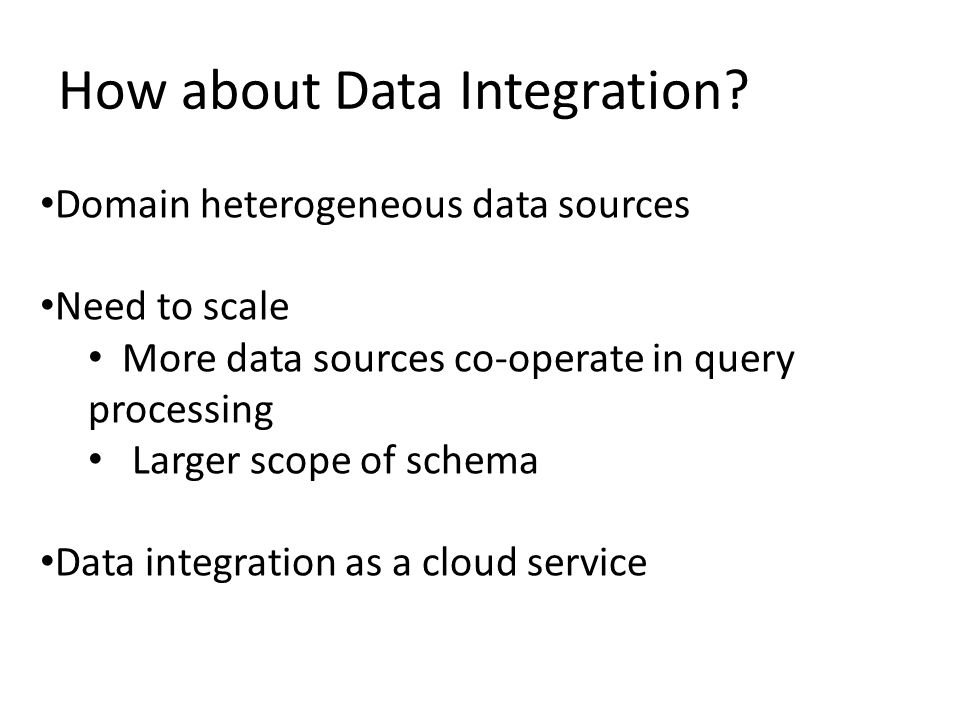 How about Data Integration.