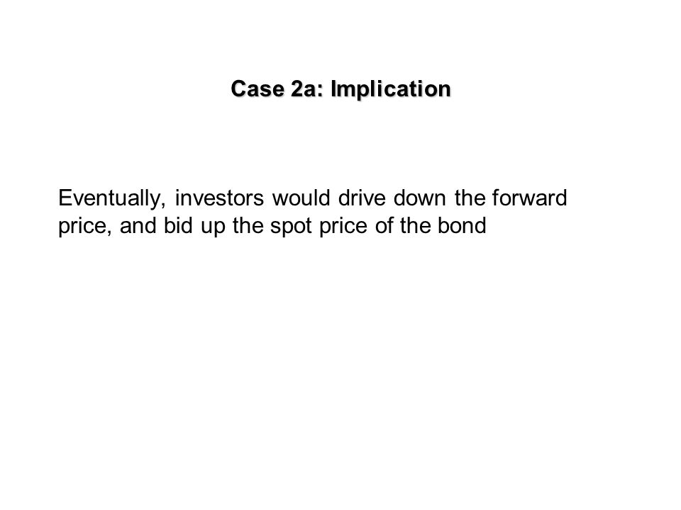 Case 2a: Asset with a known income A bond has the one-year forward price of $930.
