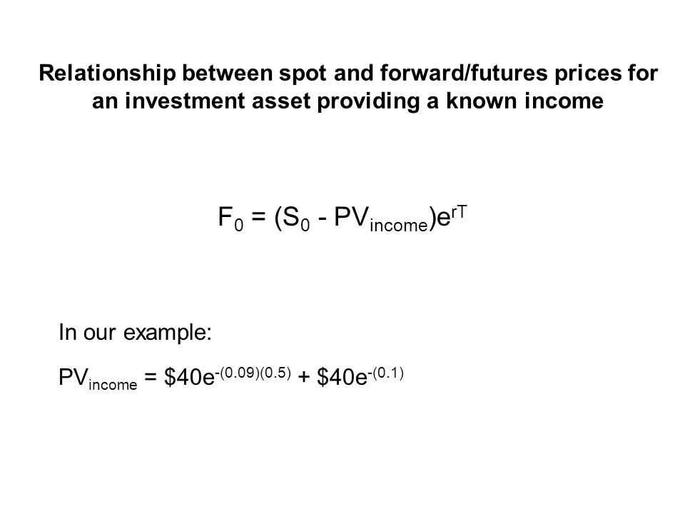 Case 2b: Implication Eventually, investors would drive down the spot price, and bid up the forward price of the bond