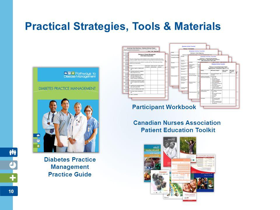 10 Practical Strategies, Tools & Materials Diabetes Practice Management Practice Guide Participant Workbook Canadian Nurses Association Patient Educat