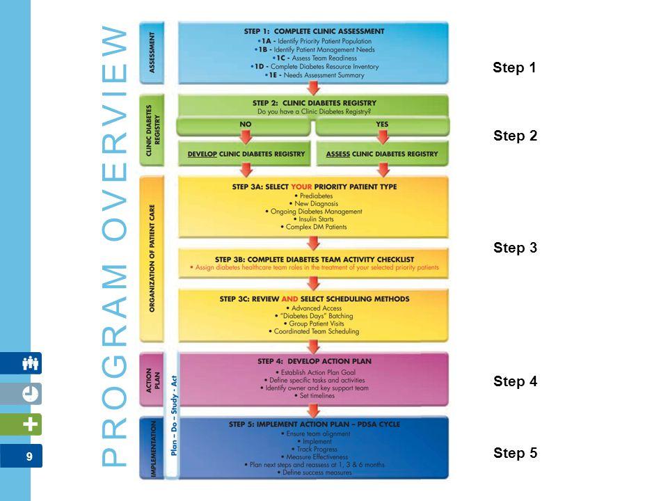 9 PROGRAM OVERVIEW Step 1 Step 2 Step 5 Step 3 Step 4