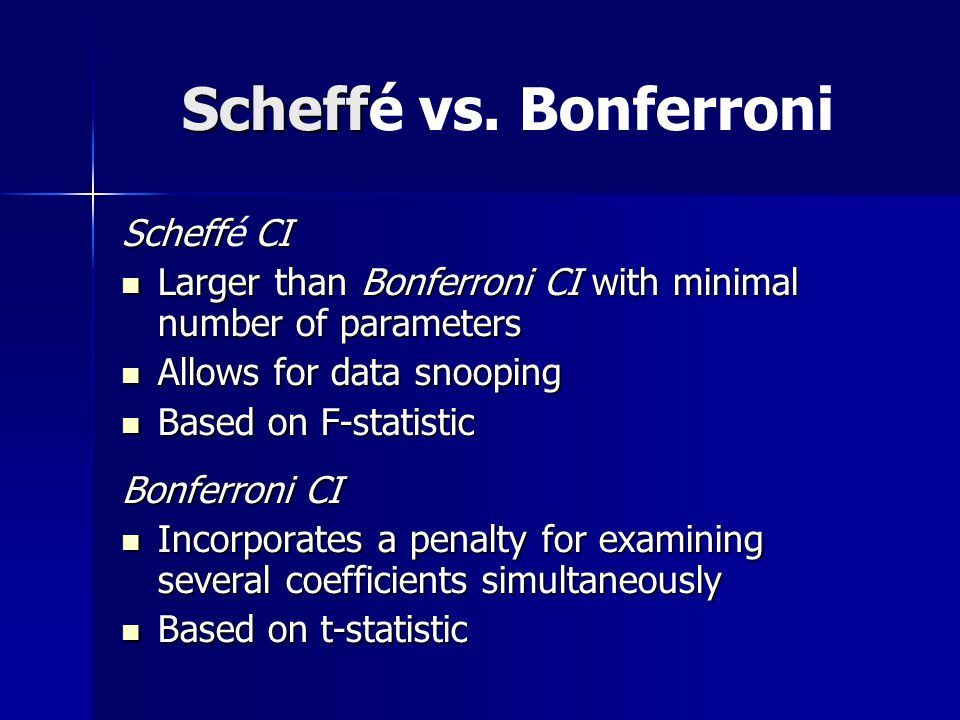 Conditional Model Coefficent for Coffee Bonferonni 95% CI: (-1.02494, 0.20646) Bonferonni 95% CI: (-1.02494, 0.20646) Scheffé 95% CI: (-1.19090, 0.37288)‏ Scheffé 95% CI: (-1.19090, 0.37288)‏ –Both intervals include 0, thus not significant Coefficient for Stress Bonferonni 95% CI: (0.72586, 1.67264)‏ Bonferonni 95% CI: (0.72586, 1.67264)‏ Scheffé 95% CI: (0.59790, 1.80061) Scheffé 95% CI: (0.59790, 1.80061) –Both intervals do not include 0, thus are highly significant