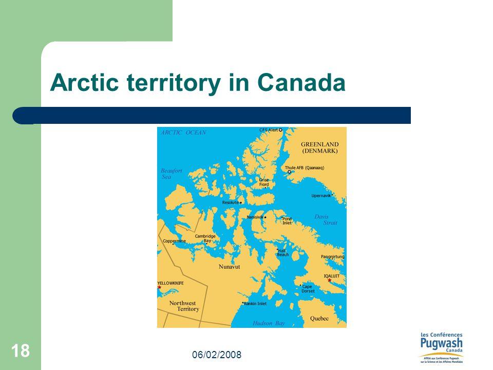 06/02/2008 18 Arctic territory in Canada