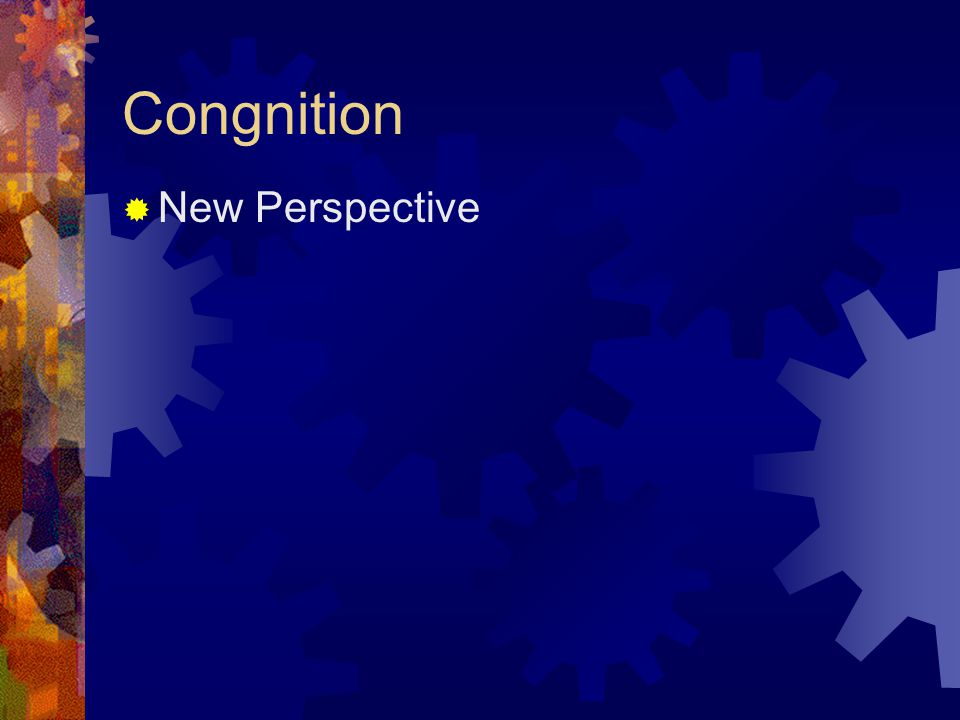Congnition  New Perspective