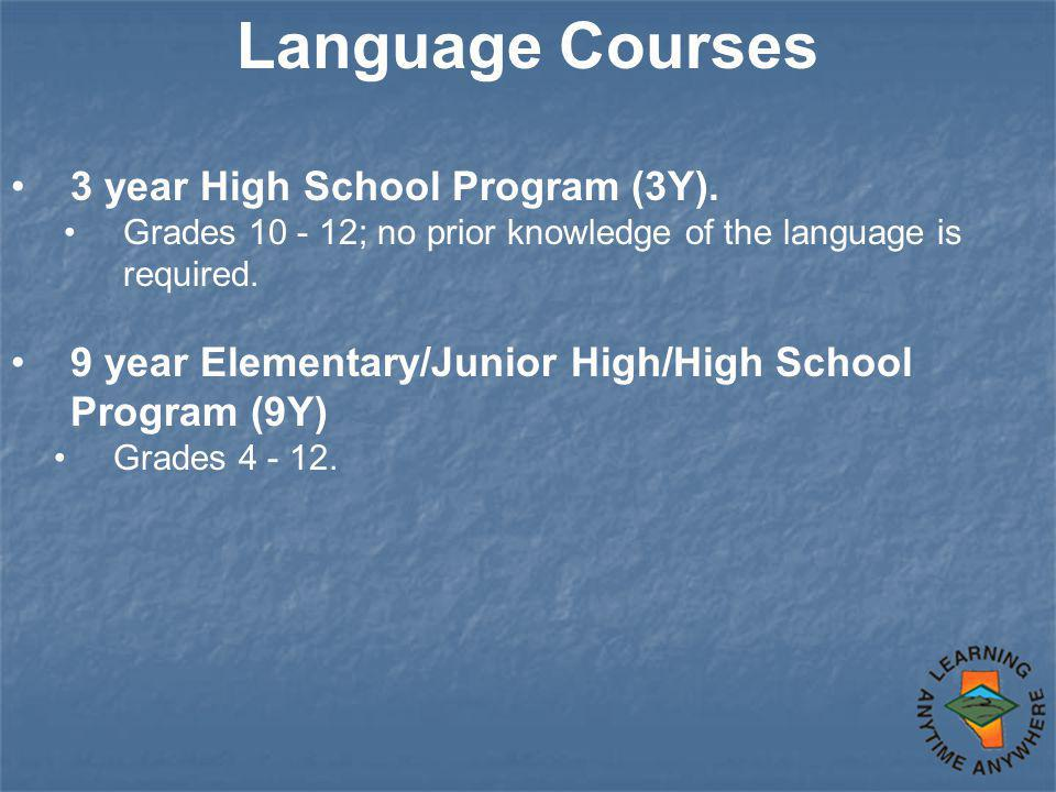 Language Courses 3 year High School Program (3Y).