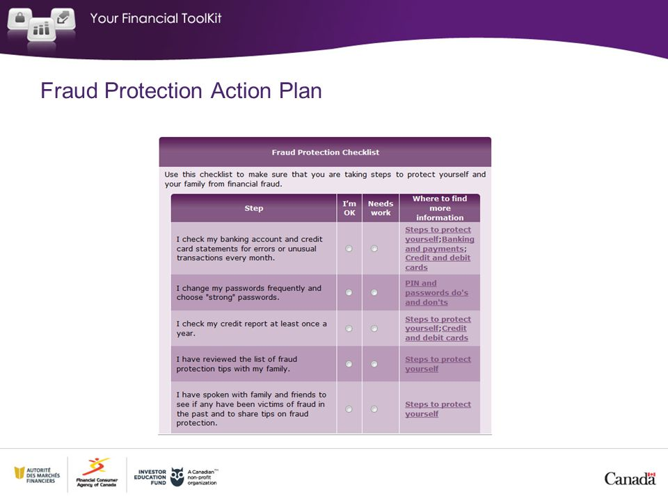 Fraud Protection Action Plan