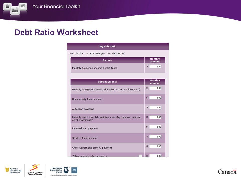 Debt Ratio Worksheet
