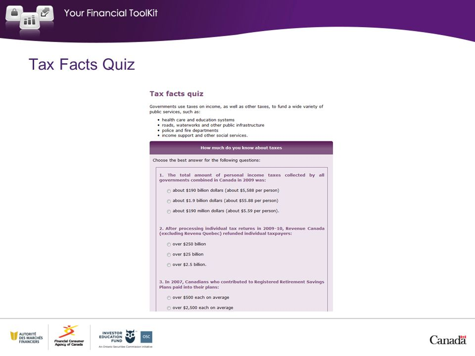Tax Facts Quiz