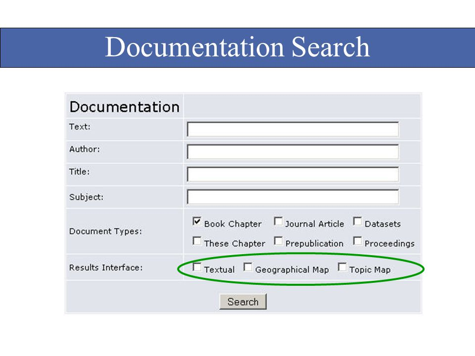 Documentation Search