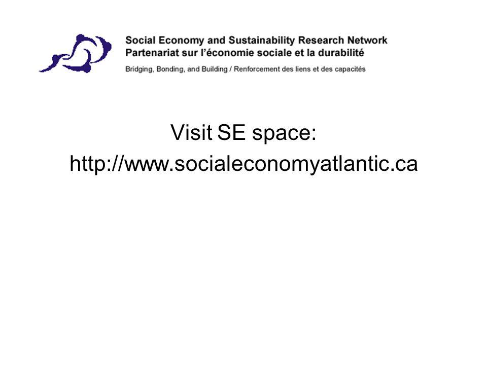 Visit SE space: http://www.socialeconomyatlantic.ca