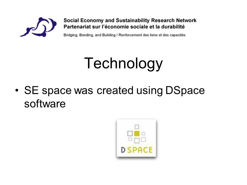 Technology SE space was created using DSpace software
