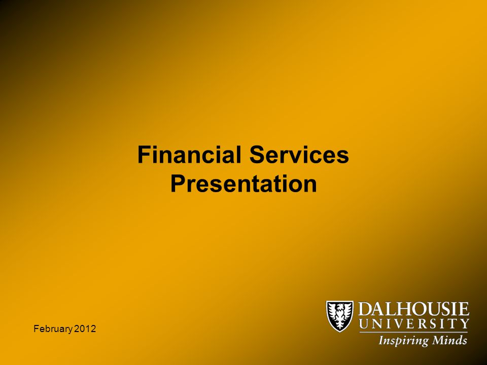 Financial Services Presentation February 2012