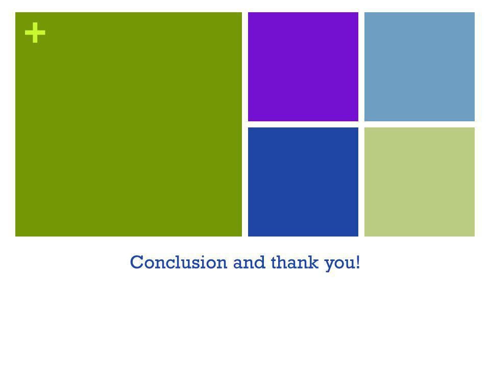 + Conclusion and thank you!