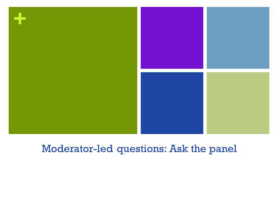 + Moderator-led questions: Ask the panel