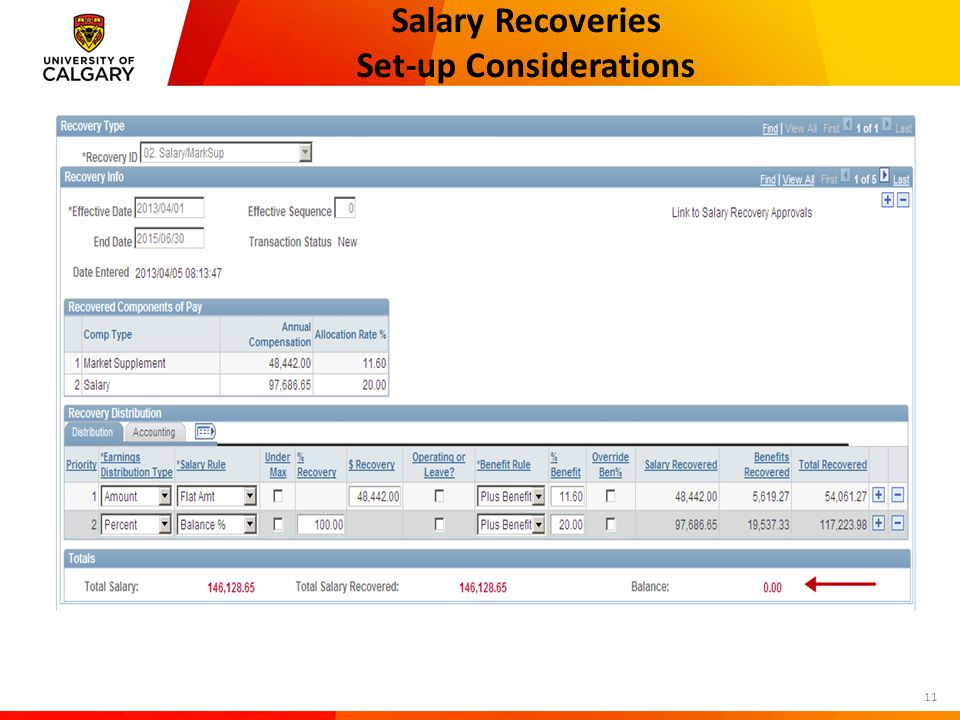 Salary Recoveries Set-up Considerations 11