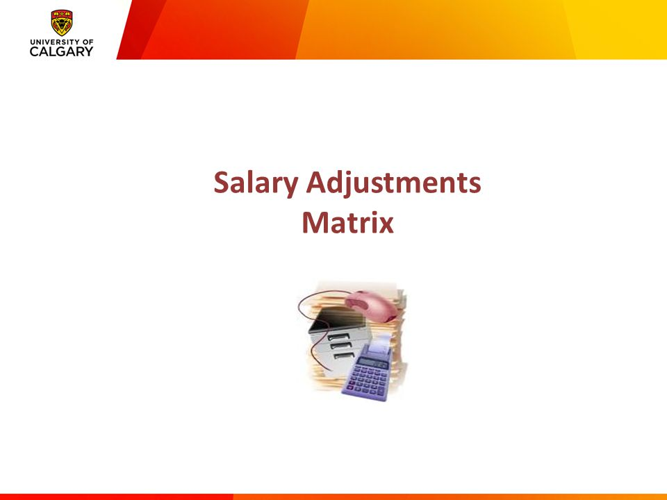 Salary Adjustments Matrix