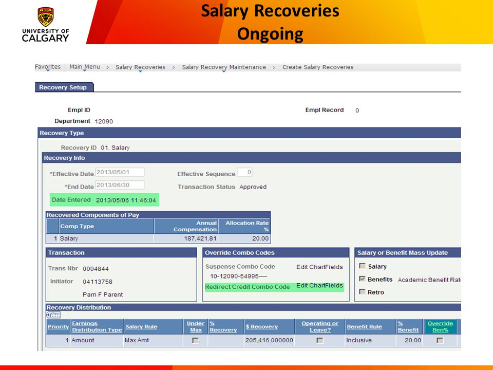 Salary Recoveries Set-up Considerations 17