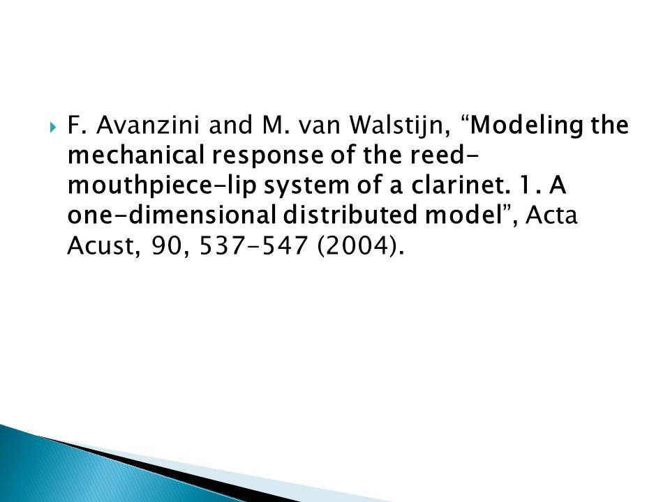  F. Avanzini and M.