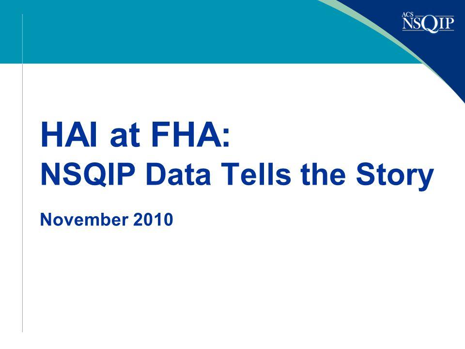 HAI at FHA: NSQIP Data Tells the Story November 2010