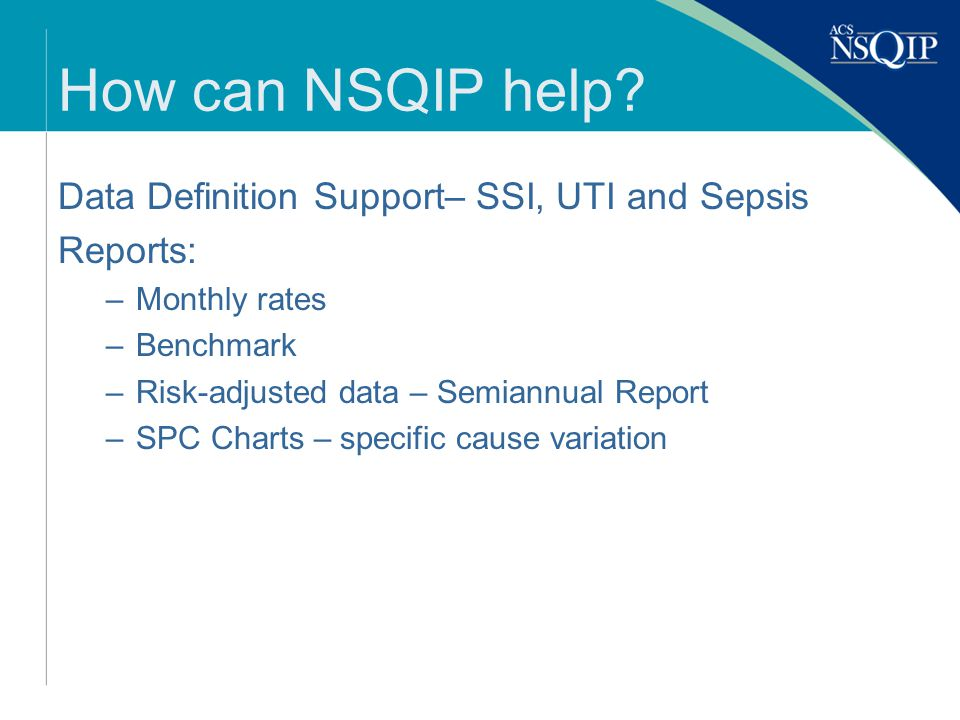 How can NSQIP help.