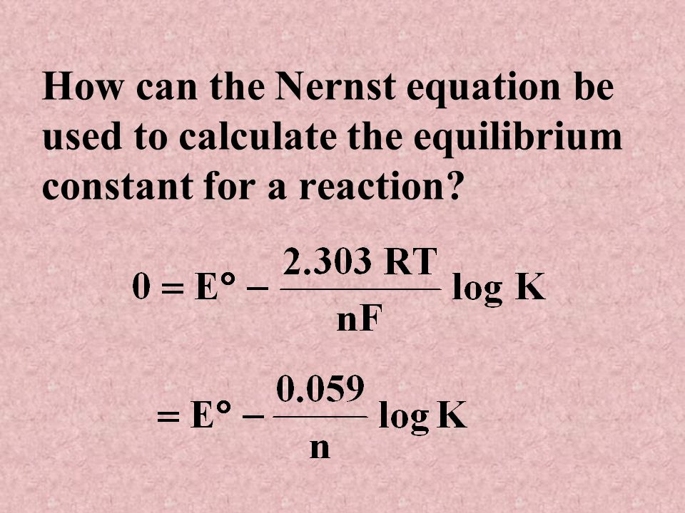 What is the Nernst equation?