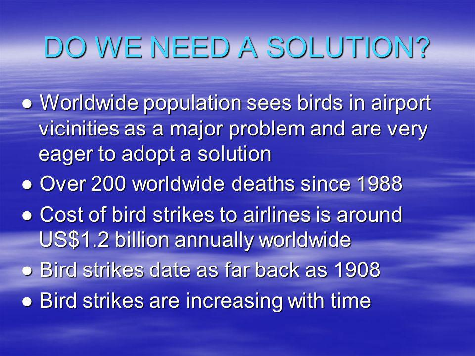 DO WE NEED A SOLUTION.