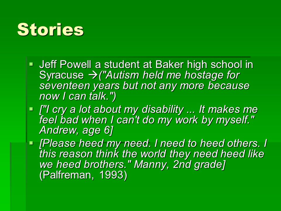 Stories  Jeff Powell a student at Baker high school in Syracuse  (