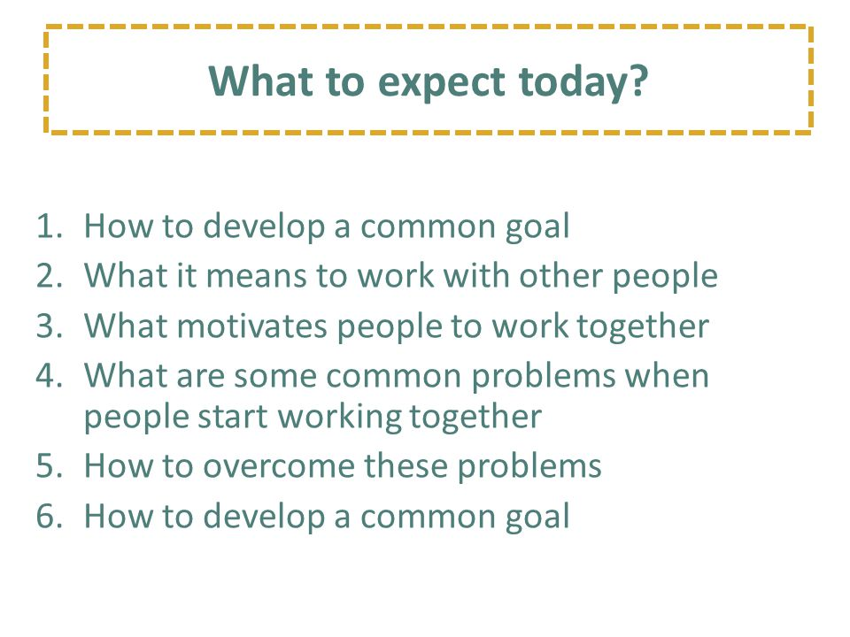 Project Wisdom Working with Others for a Common Goal