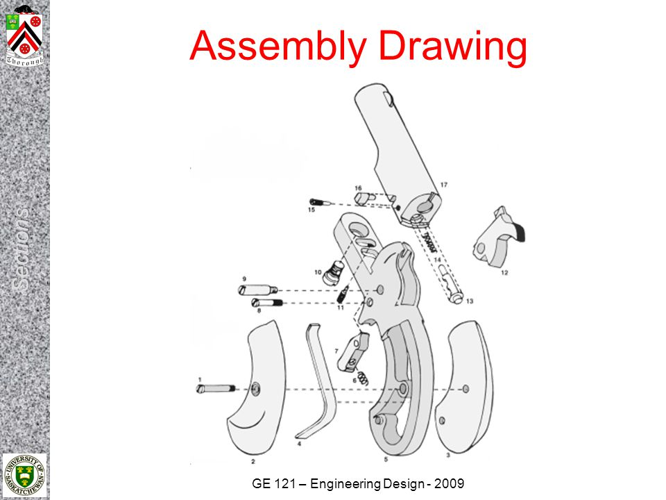GE 121 – Engineering Design - 2009 Assembly Drawing